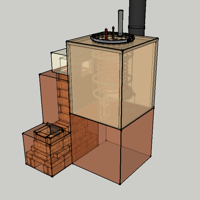 Hot water rocket stoves experimenters corner answers for Small rocket heater